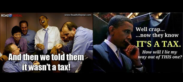 And We Told Them It Wasn't A Tax!